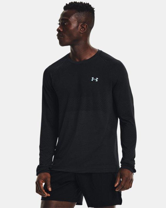 Men's UA Seamless Run Long Sleeve, Black, pdpMainDesktop image number 0