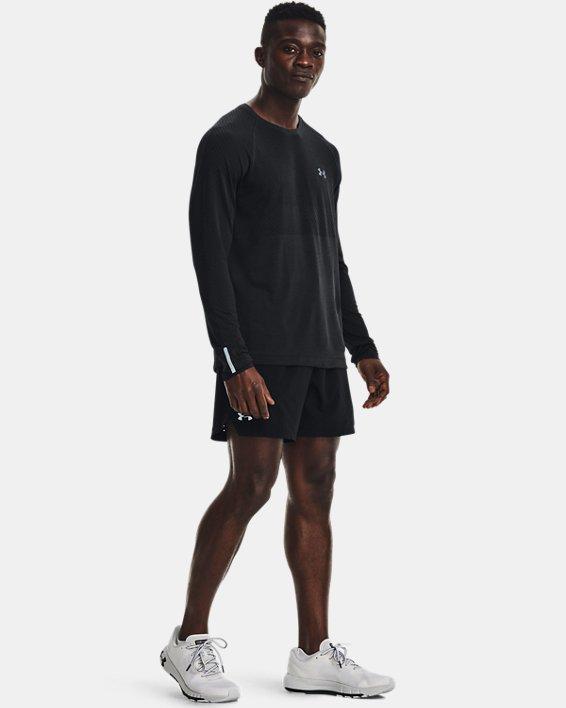 Men's UA Seamless Run Long Sleeve, Black, pdpMainDesktop image number 2