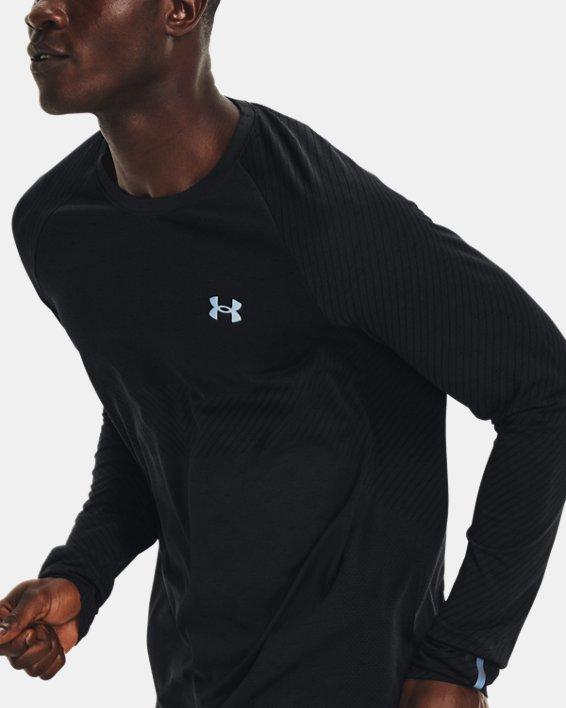 Men's UA Seamless Run Long Sleeve, Black, pdpMainDesktop image number 3