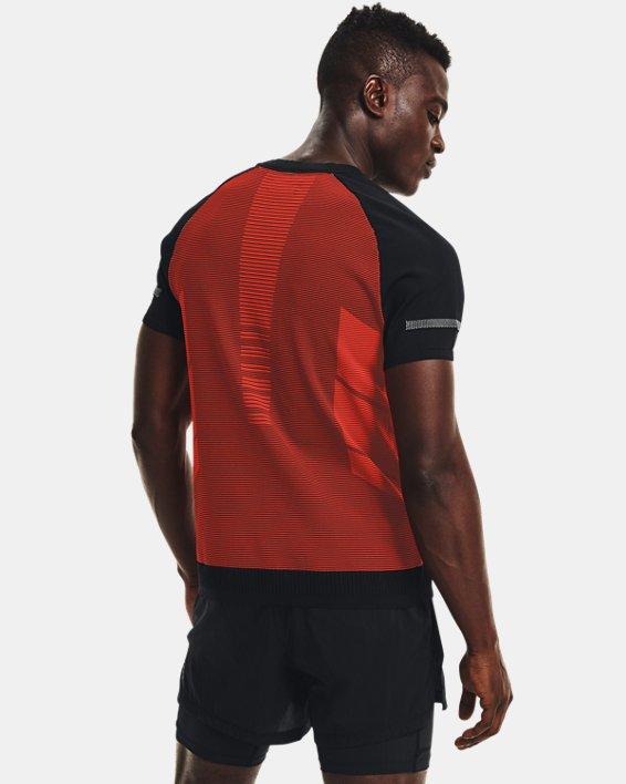 Men's UA IntelliKnit ¼ Zip Short Sleeve, Black, pdpMainDesktop image number 2