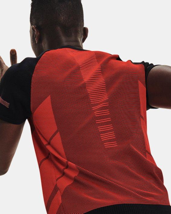 Men's UA IntelliKnit ¼ Zip Short Sleeve, Black, pdpMainDesktop image number 6