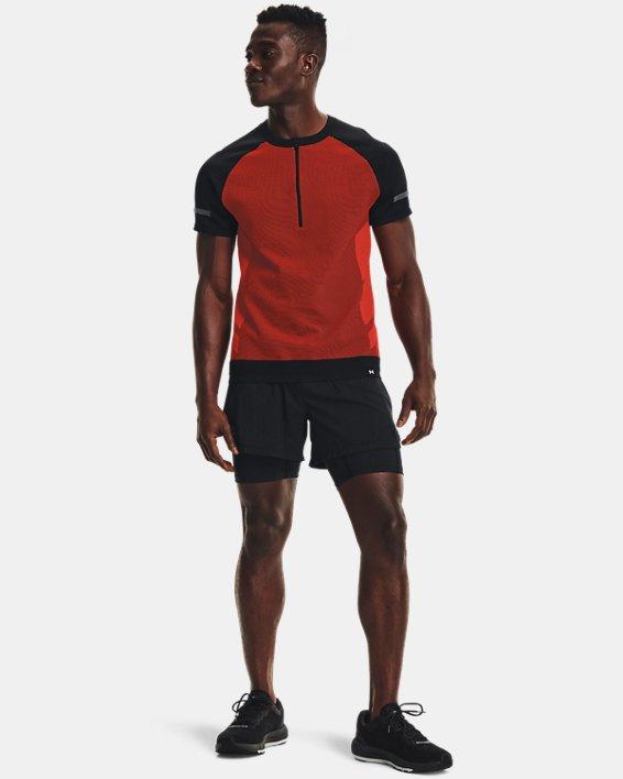 Men's UA IntelliKnit ¼ Zip Short Sleeve, Black, pdpMainDesktop image number 0