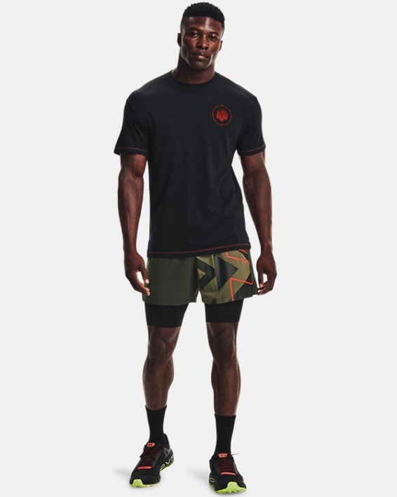 Men's UA Run Anywhere Short Sleeve, Black, pdpMainDesktop image number 0