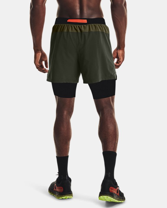 Men's UA Run Anywhere Shorts, Green, pdpMainDesktop image number 1
