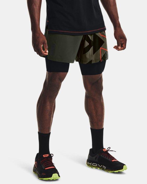 Men's UA Run Anywhere Shorts, Green, pdpMainDesktop image number 0