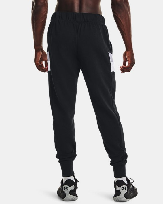 Men's UA Baseline Fleece Joggers, Black, pdpMainDesktop image number 1