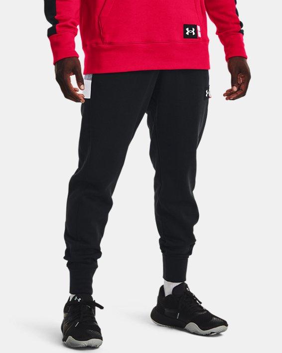 Men's UA Baseline Fleece Joggers, Black, pdpMainDesktop image number 0
