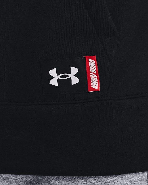 Men's UA Baseline Fleece Hoodie, Black, pdpMainDesktop image number 3