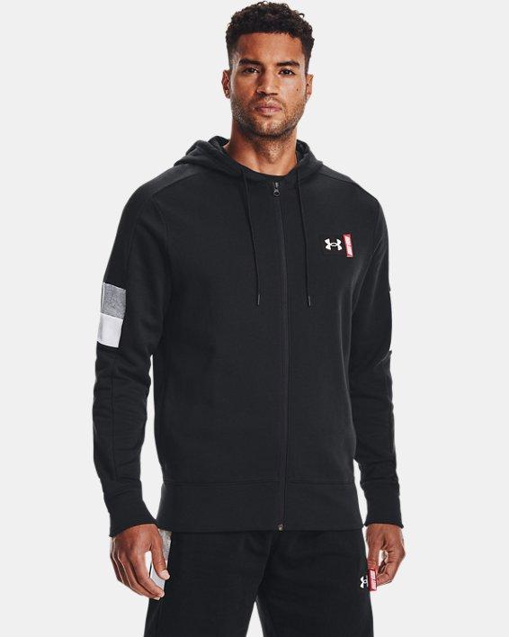 Men's UA Baseline Full-Zip, Black, pdpMainDesktop image number 1