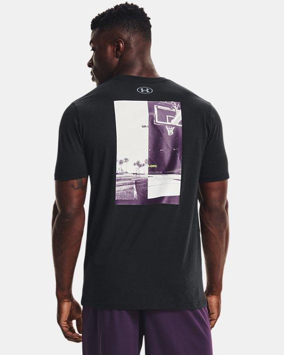 Men's UA Basketball Photo Short Sleeve, Black, pdpMainDesktop image number 0