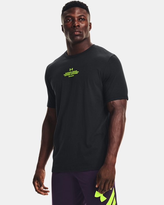 Men's UA Basketball Photo Short Sleeve, Black, pdpMainDesktop image number 2