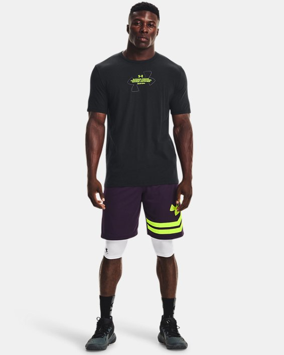 Men's UA Basketball Photo Short Sleeve, Black, pdpMainDesktop image number 1