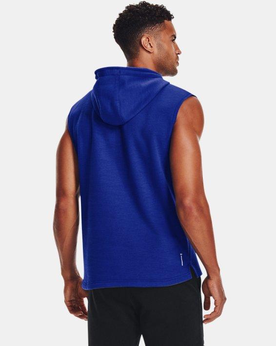 Men's Project Rock Charged Cotton® Fleece Sleeveless Hoodie, Blue, pdpMainDesktop image number 1