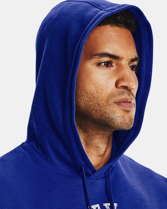 Men's Project Rock Charged Cotton® Fleece Sleeveless Hoodie, Blue, pdpMainDesktop image number 4