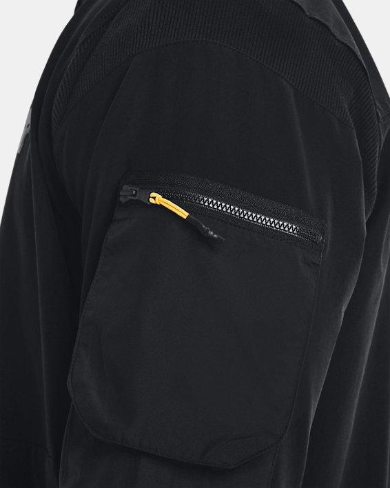 Men's Project Rock Bomber Jacket, Black, pdpMainDesktop image number 3