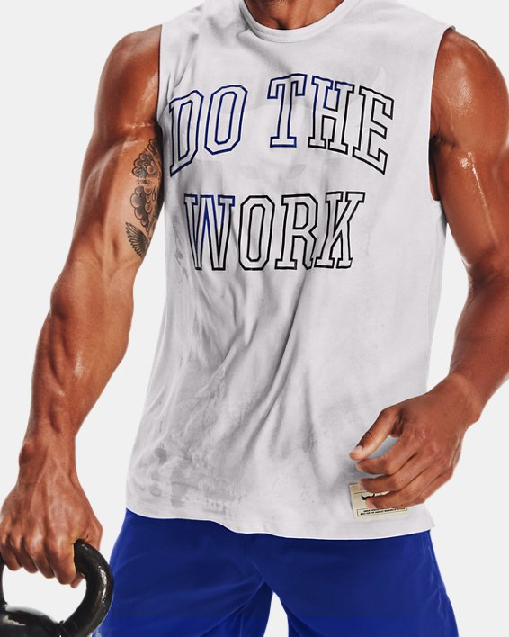 Men's Project Rock Show Sweat Sleeveless, Gray, pdpMainDesktop image number 4