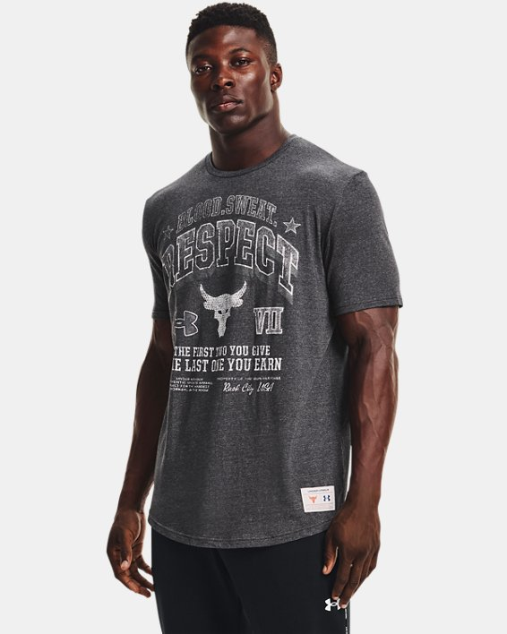 Men's Project Rock BSR Short Sleeve, Black, pdpMainDesktop image number 0