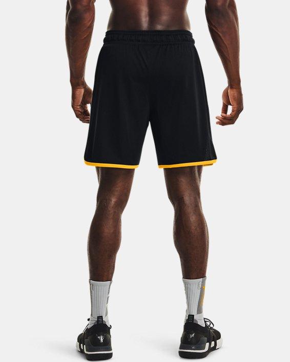 Men's Project Rock Colorblock Knit Shorts, Black, pdpMainDesktop image number 2