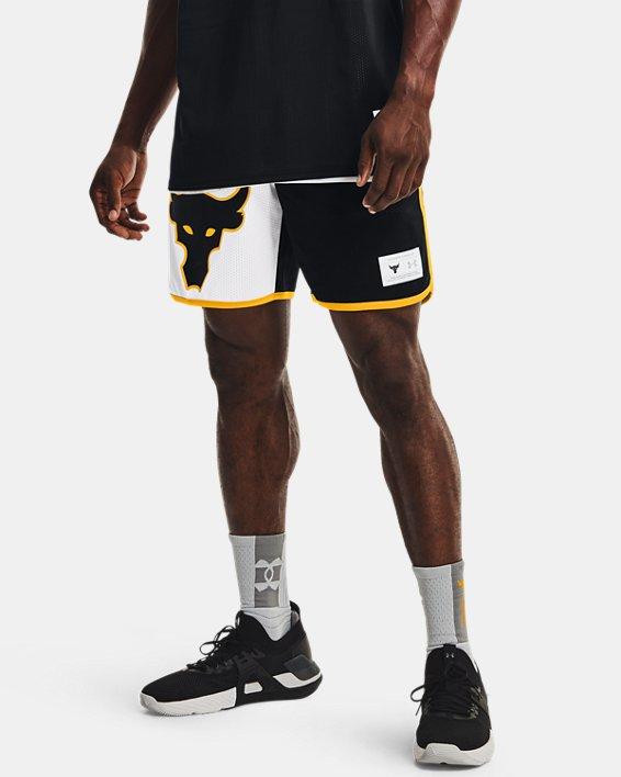 Men's Project Rock Colorblock Knit Shorts, Black, pdpMainDesktop image number 1