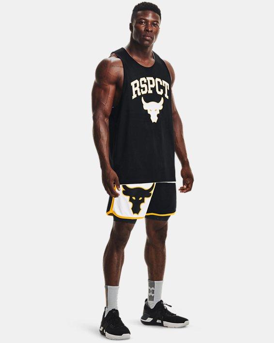 Men's Project Rock Colorblock Knit Shorts, Black, pdpMainDesktop image number 0