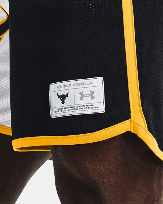 Men's Project Rock Colorblock Knit Shorts, Black, pdpMainDesktop image number 3