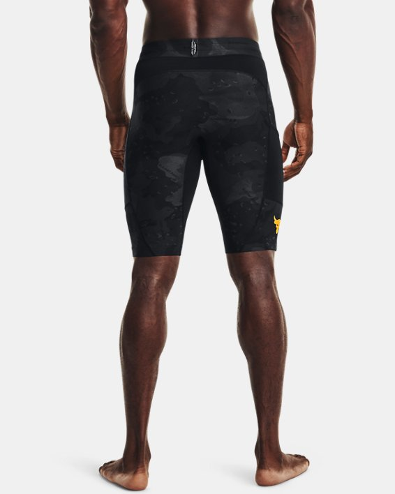 Men's Project Rock Camo Compression Shorts, Black, pdpMainDesktop image number 2