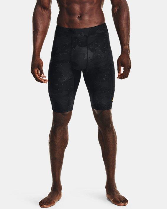 Men's Project Rock Camo Compression Shorts, Black, pdpMainDesktop image number 1