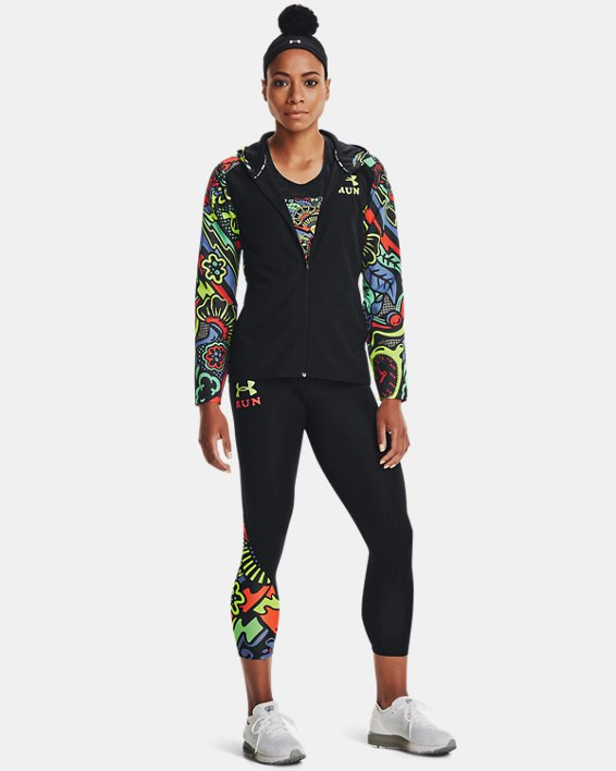 Women's UA Keep Run Weird Tights, Black, pdpMainDesktop image number 2