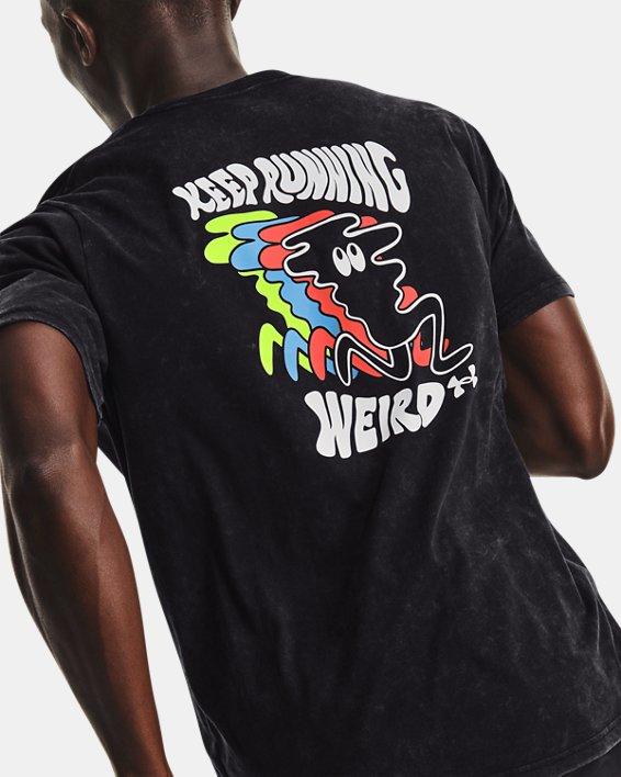 Men's UA Keep Run Weird KOR Short Sleeve, Black, pdpMainDesktop image number 0