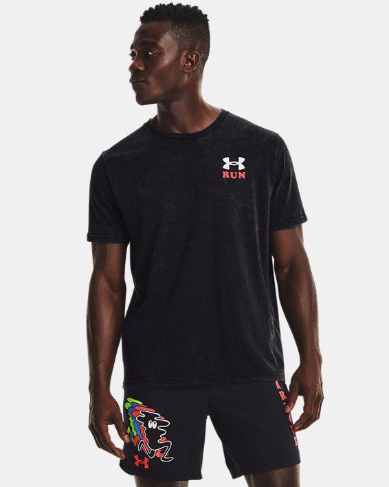 Men's UA Keep Run Weird KOR Short Sleeve, Black, pdpMainDesktop image number 1