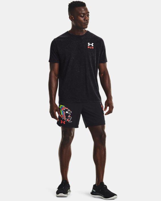 Men's UA Keep Run Weird KOR Short Sleeve, Black, pdpMainDesktop image number 3