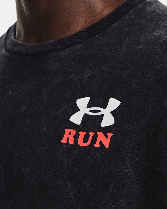 Men's UA Keep Run Weird KOR Short Sleeve, Black, pdpMainDesktop image number 4