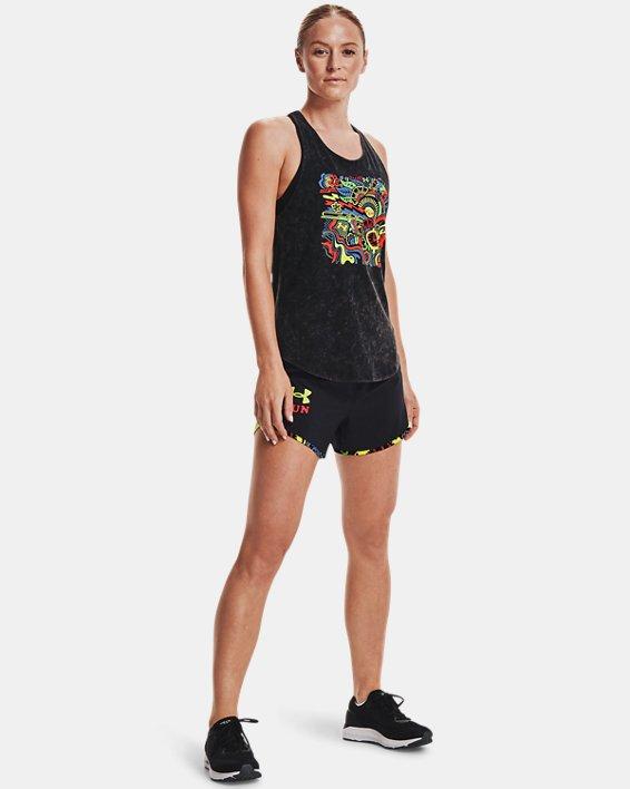 Women's UA Keep Run Weird Tank, Black, pdpMainDesktop image number 2