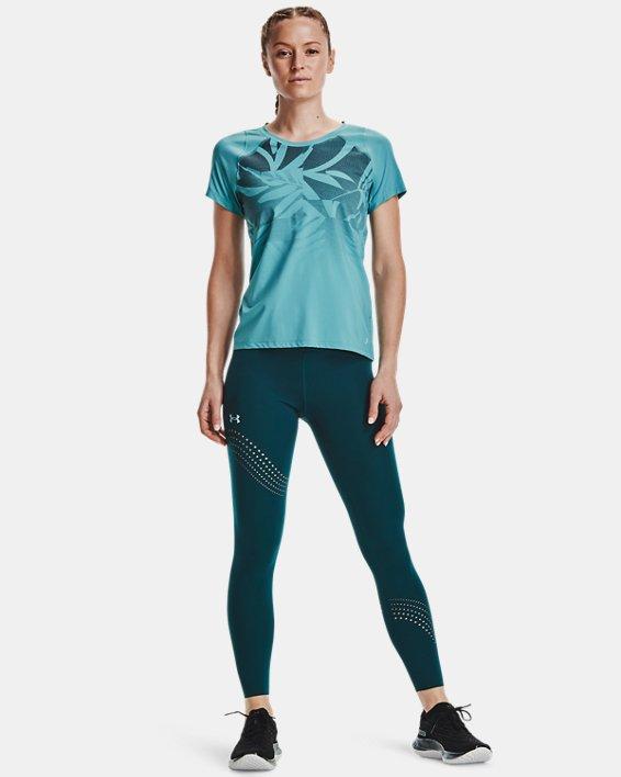 Women's UA Iso-Chill Run Short Sleeve, Blue, pdpMainDesktop image number 0
