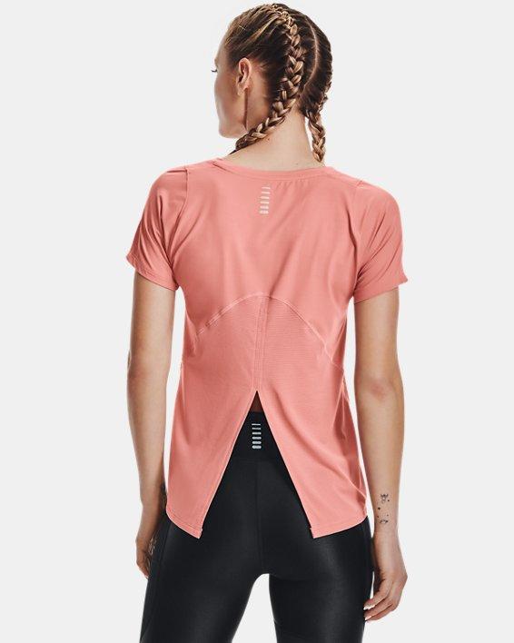 Camiseta de manga corta UA Iso-Chill Run para mujer, Pink, pdpMainDesktop image number 2