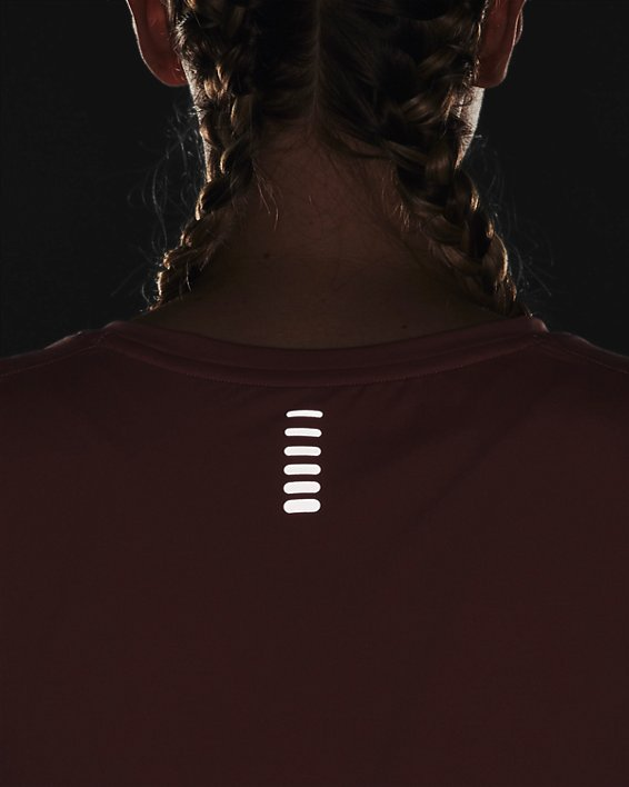 Camiseta de manga corta UA Iso-Chill Run para mujer, Pink, pdpMainDesktop image number 6