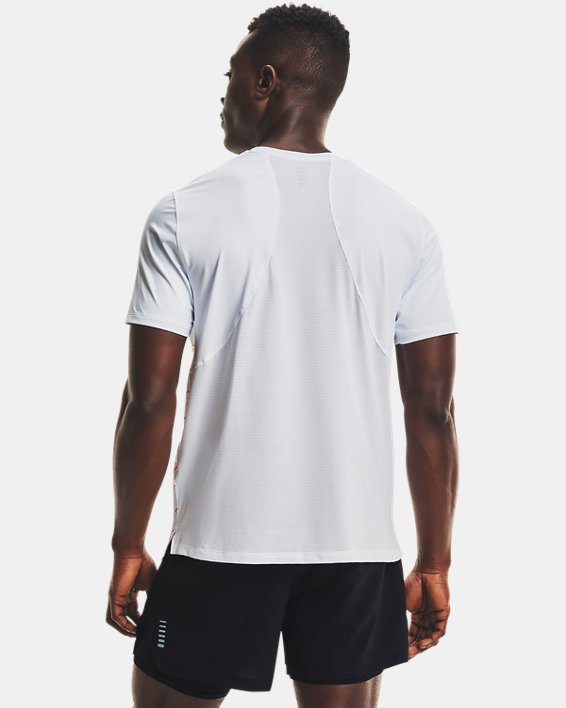 Men's UA Iso-Chill Run Short Sleeve, White, pdpMainDesktop image number 2