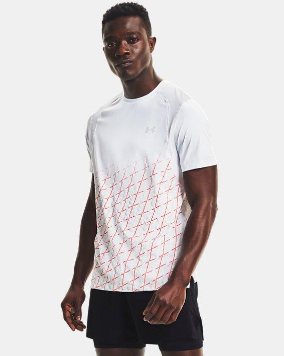 Men's UA Iso-Chill Run Short Sleeve, White, pdpMainDesktop image number 1