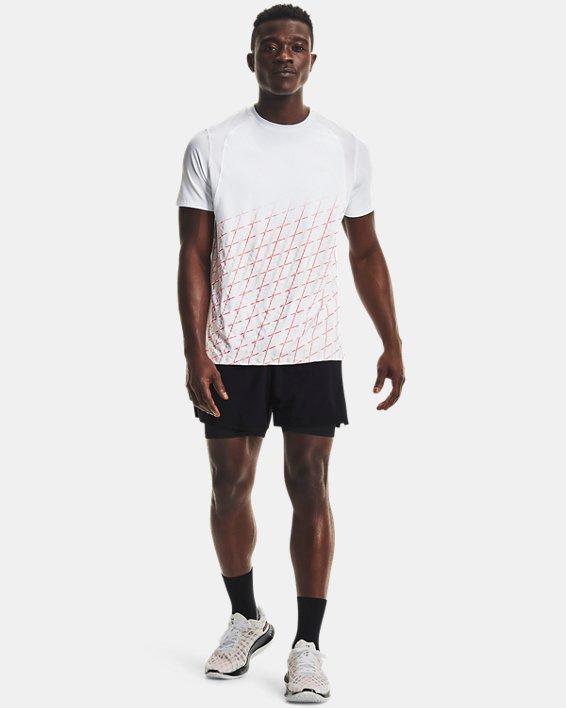 Men's UA Iso-Chill Run Short Sleeve, White, pdpMainDesktop image number 0