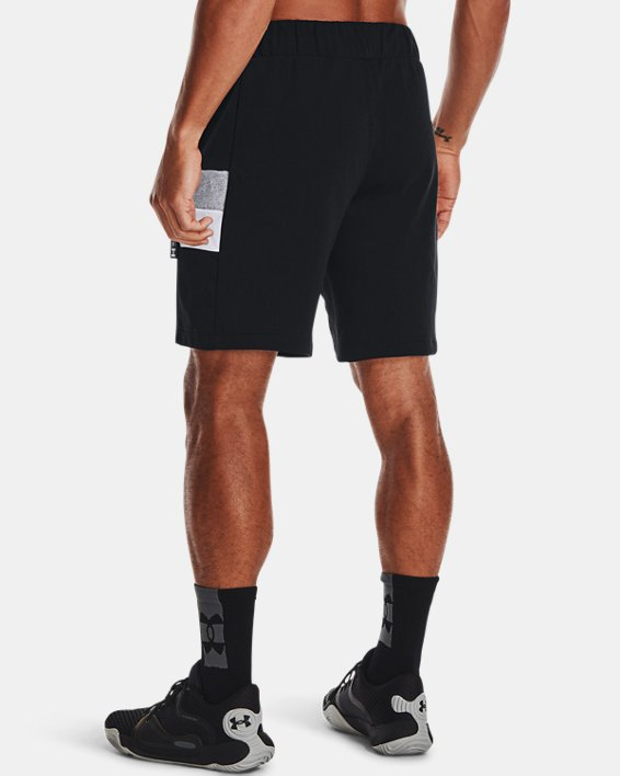 Men's UA Perimeter Fleece Shorts, Black, pdpMainDesktop image number 2
