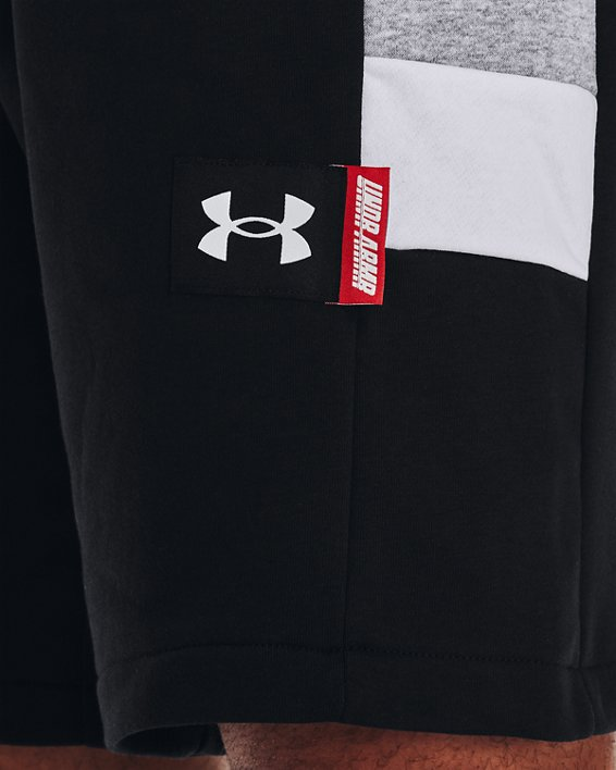 Men's UA Perimeter Fleece Shorts, Black, pdpMainDesktop image number 3