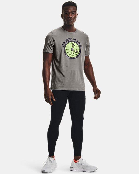 Men's UA Keep Run Weird Graphic Short Sleeve, Gray, pdpMainDesktop image number 2