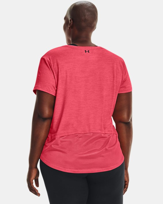 Women's UA Tech™ Vent Short Sleeve, Pink, pdpMainDesktop image number 2