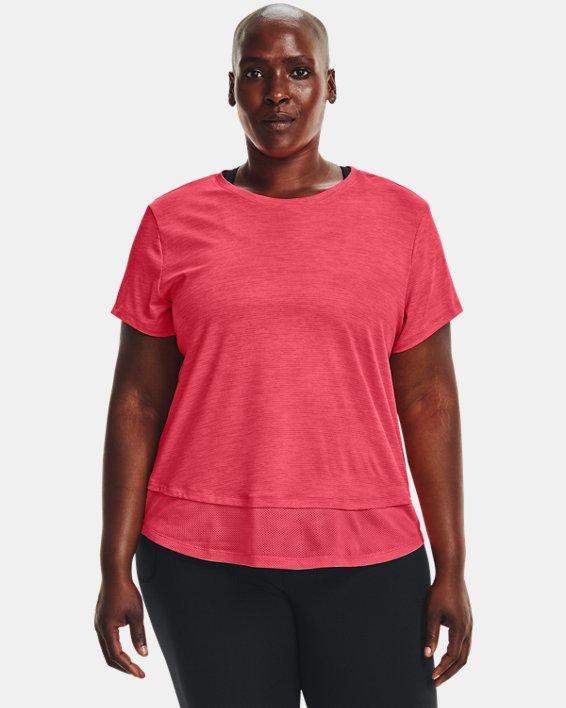 Women's UA Tech™ Vent Short Sleeve, Pink, pdpMainDesktop image number 1