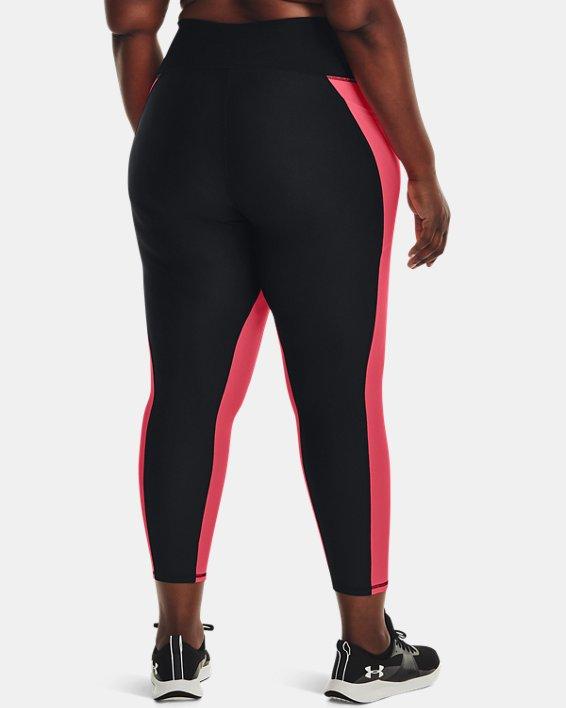 Women's HeatGear® Armour No-Slip Waistband Panel Ankle Leggings, Black, pdpMainDesktop image number 1