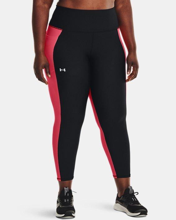 Women's HeatGear® Armour No-Slip Waistband Panel Ankle Leggings, Black, pdpMainDesktop image number 0