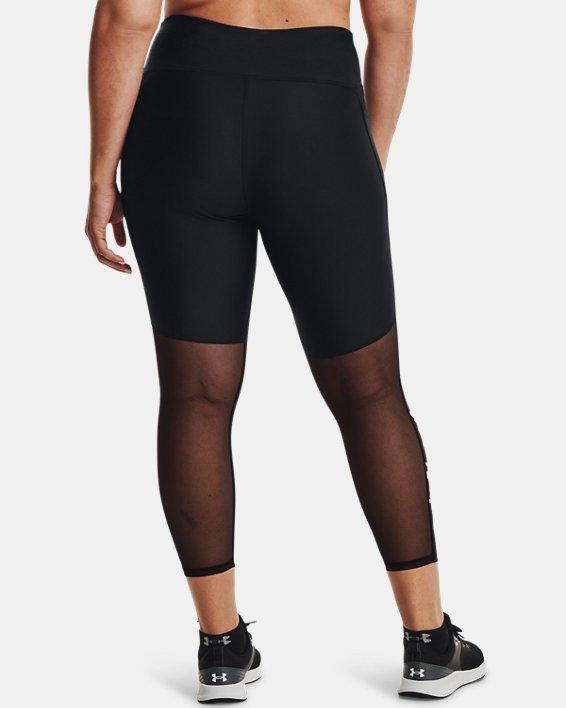 Women's HeatGear® Armour No-Slip Waistband Graphic Ankle Leggings, Black, pdpMainDesktop image number 1