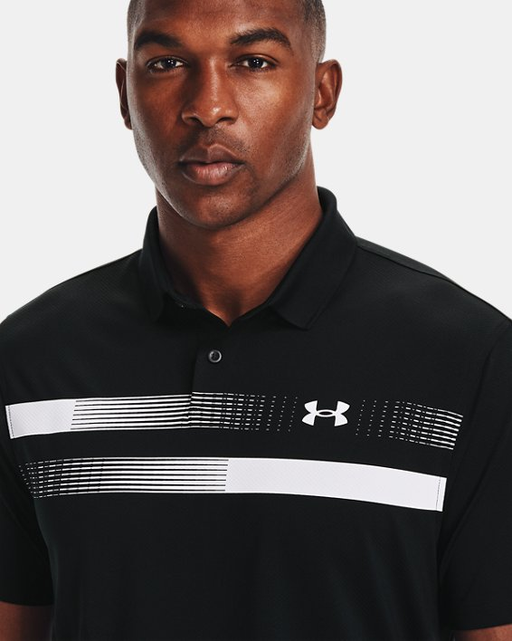 Men's UA Performance Polo Graphic, Black, pdpMainDesktop image number 5