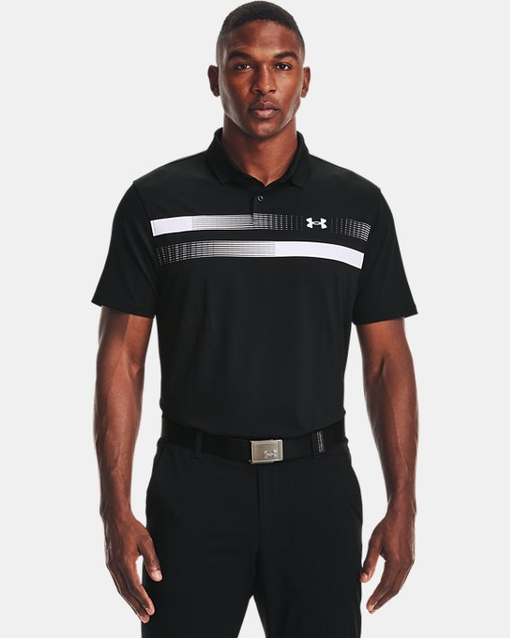 Men's UA Performance Polo Graphic, Black, pdpMainDesktop image number 1