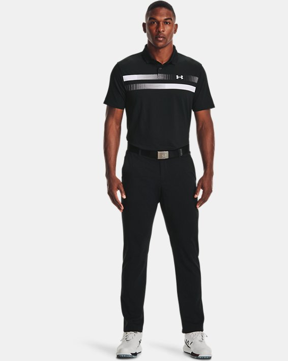 Men's UA Performance Polo Graphic, Black, pdpMainDesktop image number 0